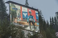 WC-ski die Vikersund (Noorwegen) vliegen 14 Februari 2015 Stock Foto