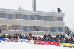 WC-ski die Vikersund (Noorwegen) vliegen 14 Februari 2015 Royalty-vrije Stock Fotografie