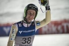 WC-ski die Vikersund (Noorwegen) vliegen 14 Februari 2015 (van de 2de helft Royalty-vrije Stock Fotografie