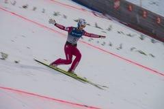 WC ski flying Vikersund (Norway) 14 February 2015 Royalty Free Stock Image