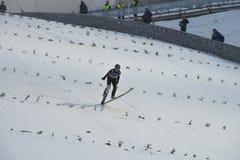 WC ski flying Vikersund (Norway) 14 February 2015 Royalty Free Stock Photos