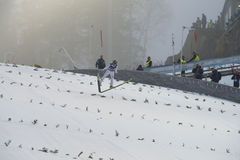WC ski flying Vikersund (Norway) 14 February 2015 Stock Photography