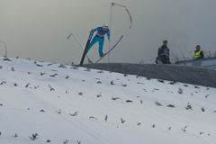 WC ski flying Vikersund (Norway) 14 February 2015 Stock Photo