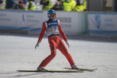 WC ski flying Vikersund (Norway) 14 February 2015 (from 2nd half Royalty Free Stock Photography