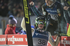 WC ski flying Vikersund (Norway) 14 February 2015 (from 2nd half Royalty Free Stock Images