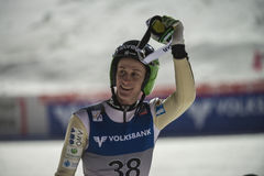WC ski flying Vikersund (Norway) 14 February 2015 (from 2nd half Royalty Free Stock Image