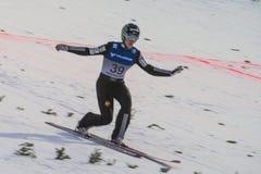 WC skidar flyga Vikersund (Norge) 14 Februari 2015 Arkivfoton