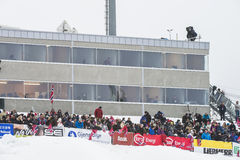 WC skidar flyga Vikersund (Norge) 14 Februari 2015 Royaltyfri Fotografi