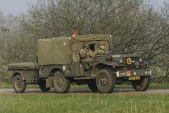 WC51 som flyttar fram till Groningen, Nederländerna Arkivfoto