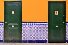 WC spagnolo con le mattonelle fotografia stock libera da diritti