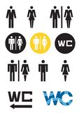 WC symbols, toilet icon male adn female WC sign. Stock Photos