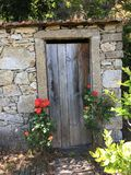 WC-Tür in Quinta tun Raul, São, den Pedro Sul tun, Portugal lizenzfreie stockbilder
