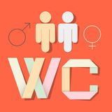WC Title with Paper Cut People Stock Photography