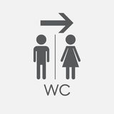 WC, toilet flat vector icon. Royalty Free Stock Photo