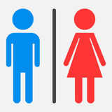 WC, toilet flat vector icon. Stock Photography