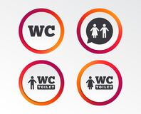 Free WC Toilet Icons. Gents And Ladies Room. Royalty Free Stock Images - 118723769
