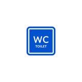 WC toilet roadsign isolated on white background Stock Photos