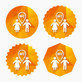 WC Toilet sign icon. Restroom symbol. Stock Photography