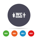 WC Toilet sign icon. Restroom symbol. Stock Photos