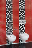 WC van het toilet en bidet Royalty-vrije Stock Afbeelding