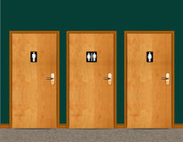 WC Water Cycle door Stock Images