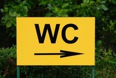 WC-Zeichen Stockfoto