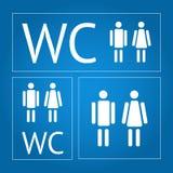 WC znaki ustawiający Fotografia Stock