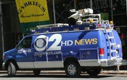 WCBS Channel 2 van in midtown Manhattan Royalty Free Stock Image
