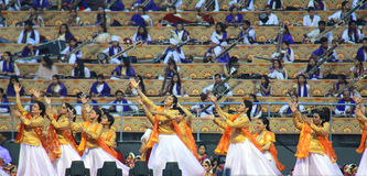 WCF Delhi aux filles classiques de danse des 11-13 mars 2016 Images libres de droits
