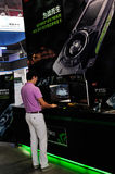 WCG 2013,booth of NVIDIA Stock Photo