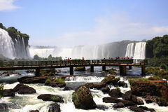 wchodzą igua iguassu wodospady iguazu u wielkie Obraz Stock