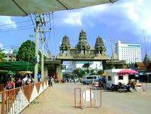Wchodzić do Kambodża granica Fotografia Royalty Free