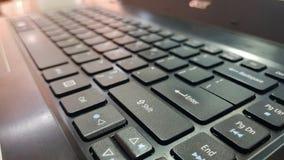 Wchodzić do guzik na Czarnej klawiaturze leptop fotografia royalty free