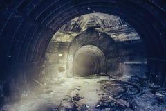 Wchodzić do metro kredy kopalni korytarz lub tunel Zdjęcia Royalty Free