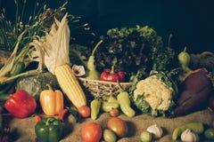 Wciąż życia warzywa, ziele i owoc, Zdjęcia Royalty Free