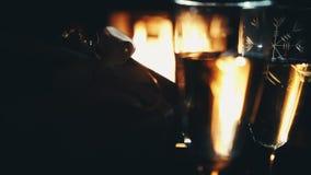 Wciąż życia wineglass zbiory wideo