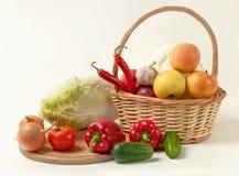 Wciąż życie świezi warzywa Zdjęcia Royalty Free