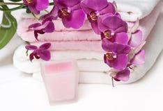 wciąż życie aromatherapy orchidea Zdjęcie Stock