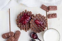Wciąż życie - czekoladowi opłatki obraz royalty free