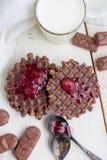 Wciąż życie - czekoladowi opłatki obrazy stock