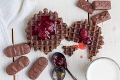 Wciąż życie - czekoladowi opłatki obrazy royalty free