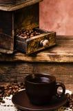 Wciąż życie, gorąca czarna kawa obraz royalty free