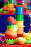 Wciąż życie od barwić zabawek Zdjęcia Royalty Free