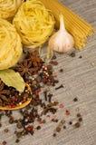 wciąż życie spaghetti Fotografia Stock