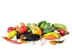 Wciąż życie warzywa odizolowywający na białym tle zdjęcie royalty free