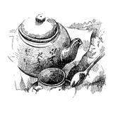 Wciąż życie Z Herbacianym garnkiem ilustracja wektor