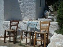 Wciąż życie z starymi krzesłami Obraz Stock