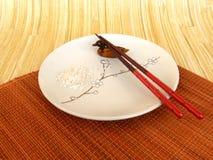 Wciąż życie z talerzem w Japońskim stylu obraz royalty free