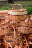 Wcker basket Royalty Free Stock Photography