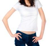 Wclean T-tröja Fotografering för Bildbyråer